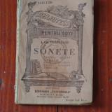 Biblioteca pentru toti - Sonete de I. Gr. Perieteanu - 102 pagini !!! - Carte veche