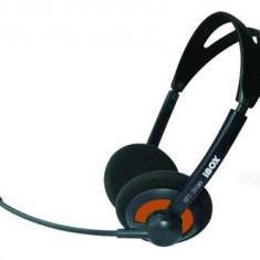 Casti iBOX HPI 202MV, headset, cu microfon, negre - Casca PC