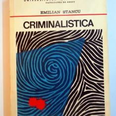 CRIMINALISTICA, VOL I de EMILIAN STANCU, 1981