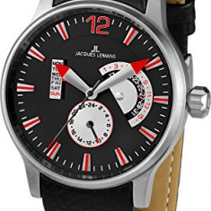 Jacques Lemans Men's 1-1741I Porto | 100% original, import SUA, 10 zile lucratoare a22207 - Ceas barbatesc Jacques Lemans, Sport, Quartz