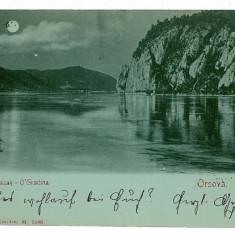 2931 - L i t h o, ORSOVA, KAZANE - old postcard - used - 1899 - Carte Postala Oltenia pana la 1904, Circulata, Printata
