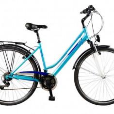 Bicicleta DHS Travel 2854 - model 2015, albastru, cadru 480 mm - Bicicleta de oras