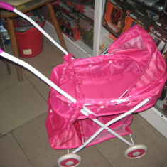 Carucior pentru papusii - Carucior papusi Simba, 4-6 ani, Metal, Roz, Fata