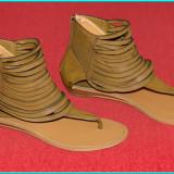 NOI _ Sandale moderne, frumoase, comode, fiabile, piele, WANTED _ femei | nr. 39