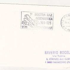 Bnk cp Italia 1979 imprimat aerofilatelie Mostra naz Aeronautica