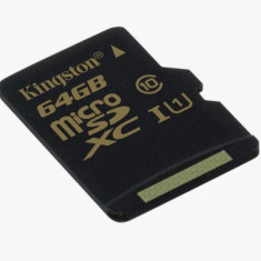 Card memorie Kingston SDCA10/64GBSP, Micro SDXC 64GB, Class 10 - Multimedia card