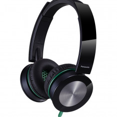 Casti Panasonic RP-HXS400E-K, headset, negre, Casti On Ear, Cu fir, Mufa 3, 5mm, Active Noise Cancelling