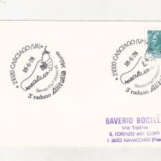 bnk cp Italia 1imprimat aerofilatelie Cosciago - Alitalia