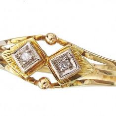 Inel de aur cu diamante Antik reducere - Inel diamant, Carataj aur: 14k, Culoare: Galben, 46 - 56