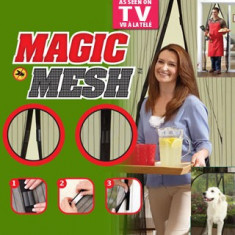 Perdea cu magneti anti insecte (tantari) Magic Mesh, plasa tantari magneti Smartfol