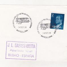 Bnk fil Spania 1978 aerofilatelie stampila ocazionala Expo Barcelona