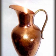 Deosebita carafa miniatura din cupru, 10 cm inaltime - Arta din Metal