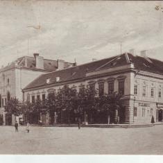 Ok-1585- Romania, Zilah, Zalau carte p.p. 1916: Reataurant, magazin, animat, Circulata, Fotografie