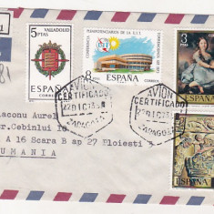 Bnk fil Spania 1973 aerofilatelie stampila Avion certificado