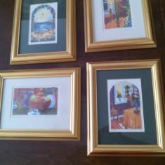 Set tablouri - acuarela (pictor cont. Norvegian), Nonfigurativ, Miniatural