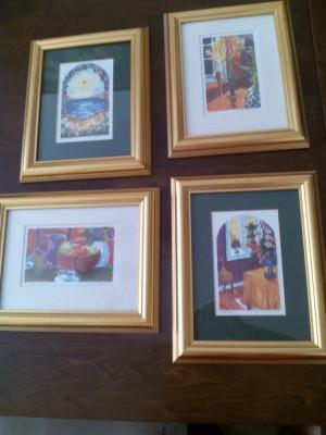 Set tablouri - acuarela (pictor cont. Norvegian) foto