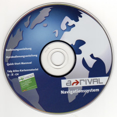 CD instalare-actualizare harţi pentru Navigatie GPS Arrival (2007) - Software GPS
