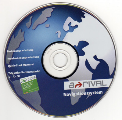 CD instalare-actualizare harţi pentru Navigatie GPS Arrival (2007) foto