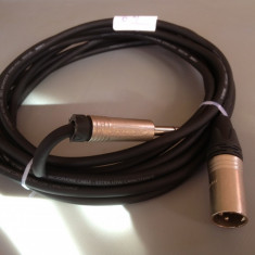 Cablu de microfon KLOTZ cu JACK STEREO si XLR- NEUTRIK /6M lungime / IMPECABIL Altele