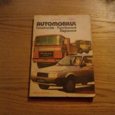 AUTOMOBILUL * Constructie * Functionare * Depanare - D. Cristescu - 1986, 262p