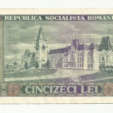 50 lei 1966 VF - Bancnota romaneasca