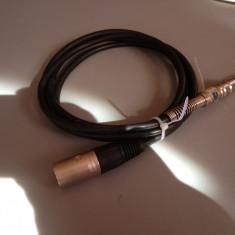 Cablu de microfon cu mufe XLR NEUTRIK(tata) si JACK - 2 M lungime / IMPECABIL Altele