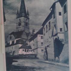 Vedere Sibiu Biserica Evanghelica - Carte Postala Transilvania pana la 1904, Circulata, Fotografie