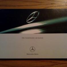 MERCEDES-BENZ * The Passenger Car Range - catalog de prezemtare