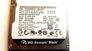 HARD DISK LAPTOP WD Scorpio Black 320 GB - TRANSPORT GRATUIT
