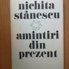 D7 Nichita Stanescu - Amintiri din prezent - Roman, Anul publicarii: 1985