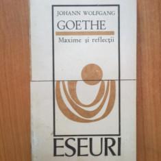 n7 Johann Wolfgang Goethe - Maxime si reflectii