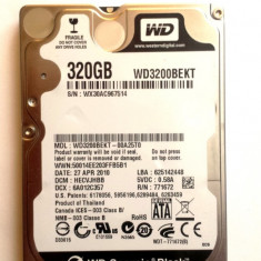 HARD DISK LAPTOP WD Scorpio Black 320 GB - TRANSPORT GRATUIT - HDD laptop Western Digital, 300-499 GB, Rotatii: 7200, SATA2, 16 MB