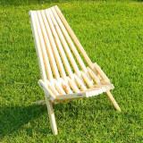 Scaun pliant din lemn pentru gradina sau terasa