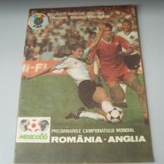 Program meci : romania -anglia, 1 mai 1985