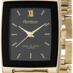 Armitron Men's 201576 Gold-Tone Black | 100% original, import SUA, 10 zile lucratoare a42707 - Ceas barbatesc Armitron, Elegant, Quartz