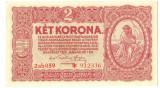 BANCNOTA UNGARIA 2 KOROANE 1920 STARE FOARTE BUNA  VARIANTA CU STEA.