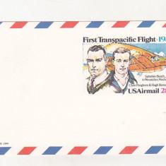 Bnk fil USA carte postala - aerofilatelie - Primul zbor transpacific 1931