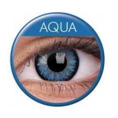 Lentile de contact colorate albastre. Glamour Aqua. Pentru 3 luni. In stoc !