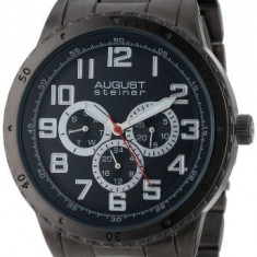 August Steiner Men's AS8060BK Quartz | 100% original, import SUA, 10 zile lucratoare a12107 - Ceas barbatesc August Steiner, Casual