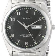 Armitron Men's 201143BKSV Casual Silver-Tone | 100% original, import SUA, 10 zile lucratoare a42707 - Ceas barbatesc Armitron, Quartz