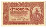 BANCNOTA UNGARIA 2 KOROANE 1920 STARE FOARTE BUNA VARIANTA FARA STEA.