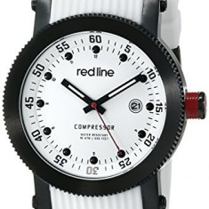 Red line Men's RL-18000-02-BB-WHT-ST Compressor | 100% original, import SUA, 10 zile lucratoare a12107 - Ceas barbatesc Red Line, Quartz