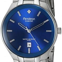 Armitron Men's 20 4999BLSV Diamond-Accented | 100% original, import SUA, 10 zile lucratoare a42707 - Ceas barbatesc Armitron, Elegant, Quartz