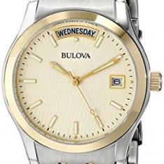 Bulova Men's 98C60 Two-Tone Bracelet | 100% original, import SUA, 10 zile lucratoare a12107 - Ceas barbatesc Bulova, Quartz