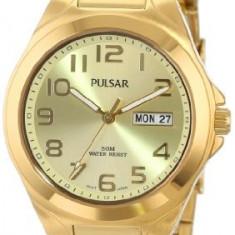 Pulsar Men's PXN152 Functional Gold-Tone | 100% original, import SUA, 10 zile lucratoare a12107 - Ceas barbatesc Pulsar, Quartz