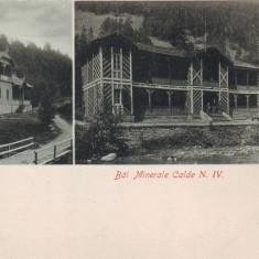 Romania, Slanic Moldova, carte postala UPU necirculata: Hotel Dobru, Bai minerale - Carte Postala Moldova pana la 1904, Fotografie