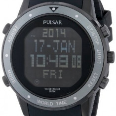 Pulsar Men's PQ2019 Digital Display | 100% original, import SUA, 10 zile lucratoare a42707 - Ceas barbatesc Pulsar, Quartz, Electronic