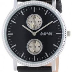 August Steiner Men's AS8048BK GMT | 100% original, import SUA, 10 zile lucratoare a42707 - Ceas barbatesc August Steiner, Casual, Quartz