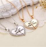 Pandantiv / Lantisor / Colier - BFF Best Friend - Culori : Auriu sau Argintiu