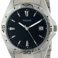 Pulsar Men's PXH455 Sport Silver-Tone | 100% original, import SUA, 10 zile lucratoare a42707 - Ceas barbatesc Pulsar, Quartz